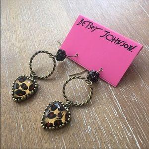 Betsey Johnson Leopard Earrings